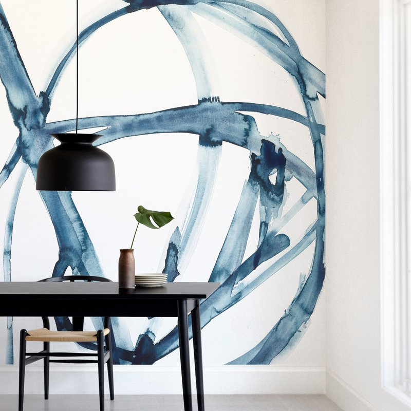 """""""Indigo Plant Cell"""" - Non-custom Wall Murals by Mary Gaspar in beautiful frame options and a variety of sizes."""