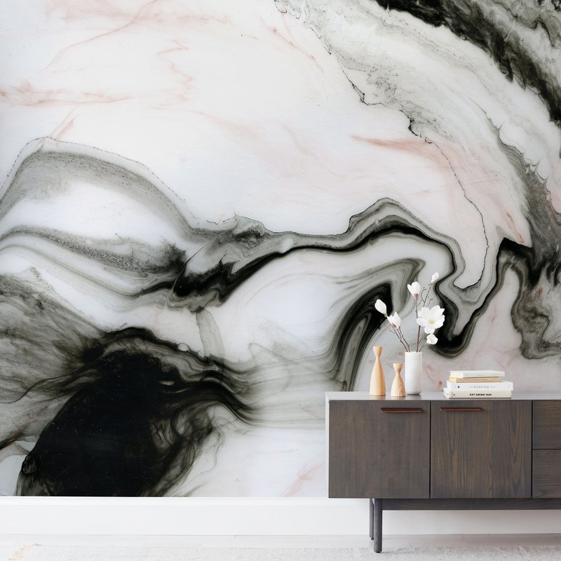 """Ethereal Marble"" - Non-custom Wall Murals by Melanie Severin in beautiful frame options and a variety of sizes."