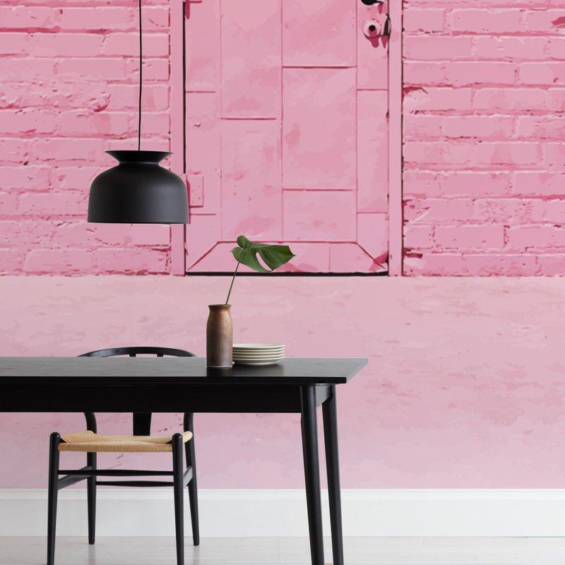 The Pink Door Wall Murals