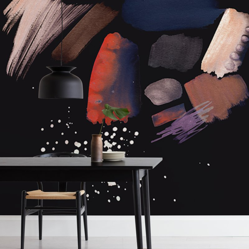 Pastel abstract splattering Wall Murals