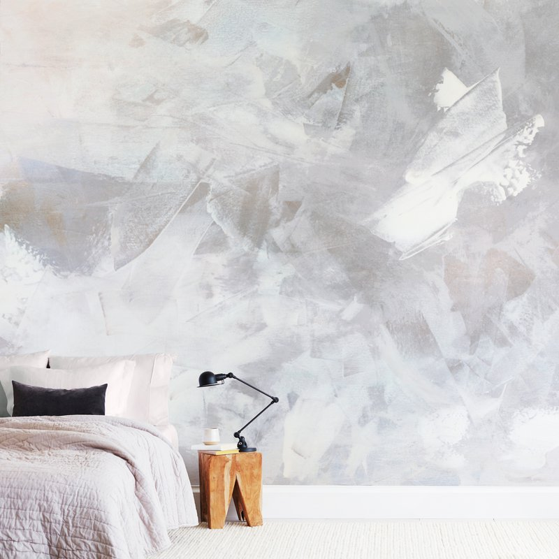 Melody in White Wall Murals