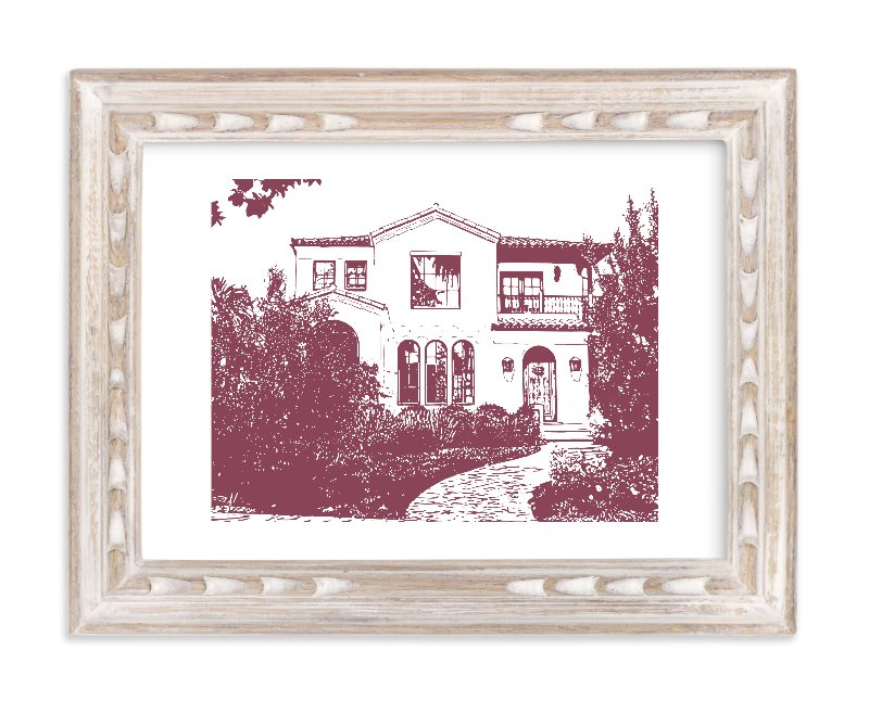 """""""Custom House Portrait Art"""" - House Digital Art by Minted in beautiful frame options and a variety of sizes."""