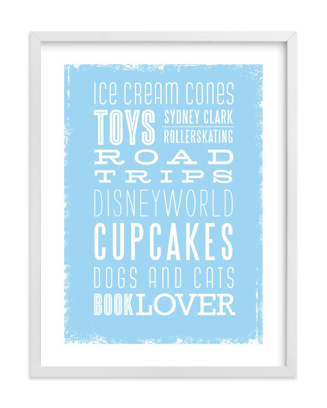 """My Favorite Things"" - Children's Custom Art Print by Smudge Design in beautiful frame options and a variety of sizes."
