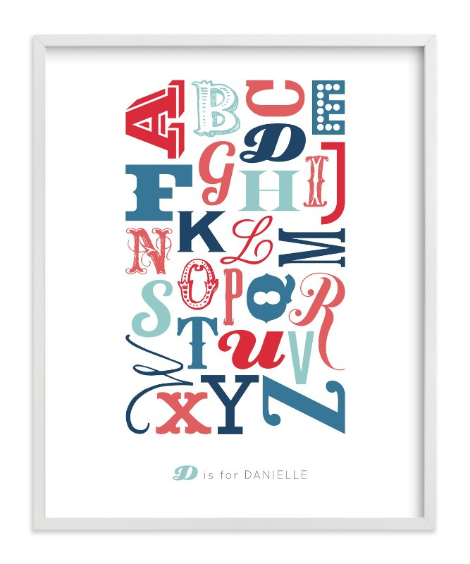 """""""Know Your Letters"""" - Children's Custom Art Print by Blixa 6 Studios in beautiful frame options and a variety of sizes."""