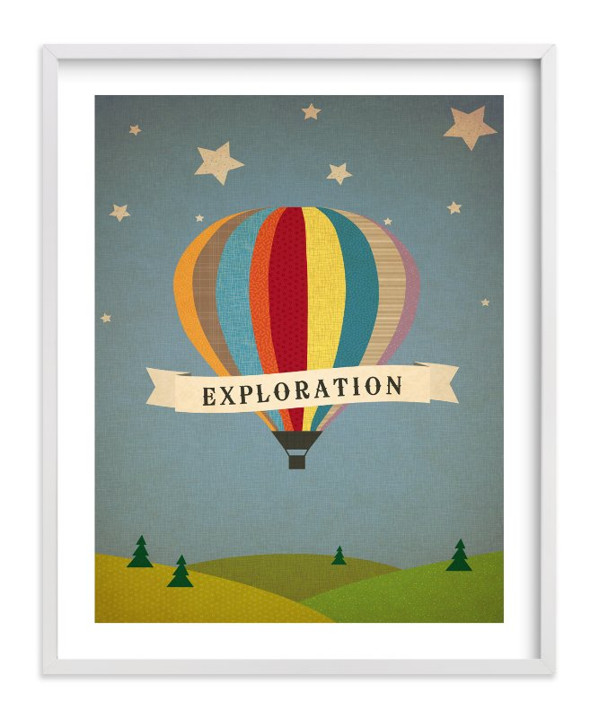 """Exploration Destination"" - Children's Custom Art Print by Serenity Avenue in beautiful frame options and a variety of sizes."