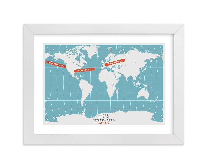 """""""You are Here"""" - Children's Custom Art Print by Michelle Roman in beautiful frame options and a variety of sizes."""