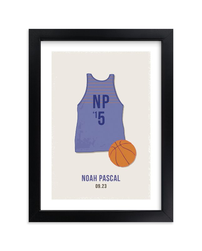 """""""B-Ball"""" - Children's Custom Art Print by Tyler Tea in beautiful frame options and a variety of sizes."""