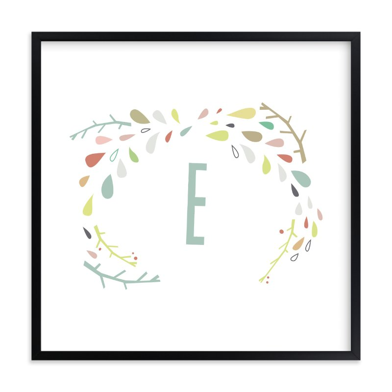 """""""Craggy Wreath"""" - Children's Custom Art Print by Lori Wemple in beautiful frame options and a variety of sizes."""