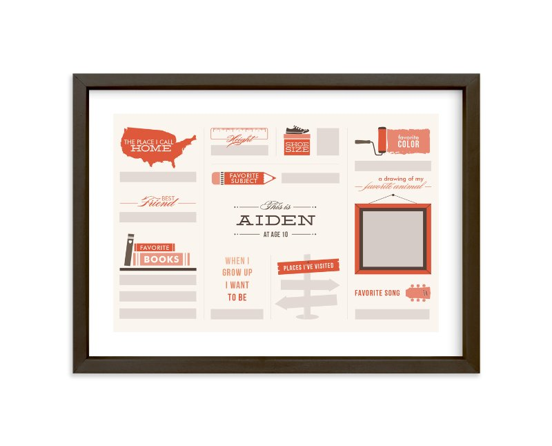 """Just Fill in the Blanks!"" - Children's Custom Art Print by Dana Beckwith in beautiful frame options and a variety of sizes."