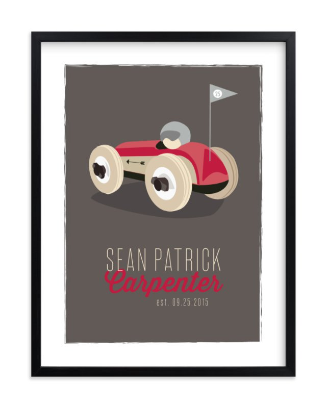 """""""Race Day"""" - Children's Custom Art Print by Squareview Studios in beautiful frame options and a variety of sizes."""