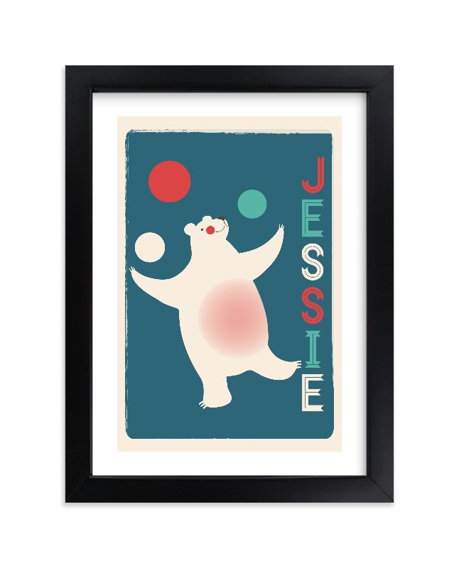 """""""Circus Circus"""" - Children's Custom Art Print by kadie foppiano in beautiful frame options and a variety of sizes."""