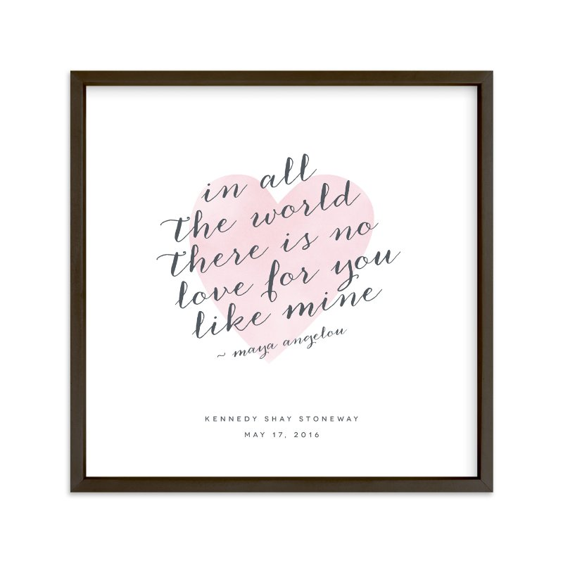 """""""Love Like Mine"""" - Children's Custom Art Print by Kimberly FitzSimons in beautiful frame options and a variety of sizes."""
