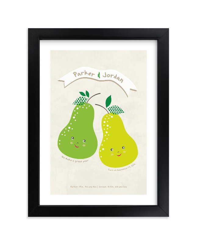 """""""Great Pear"""" - Children's Custom Art Print by Stellax Creative in beautiful frame options and a variety of sizes."""