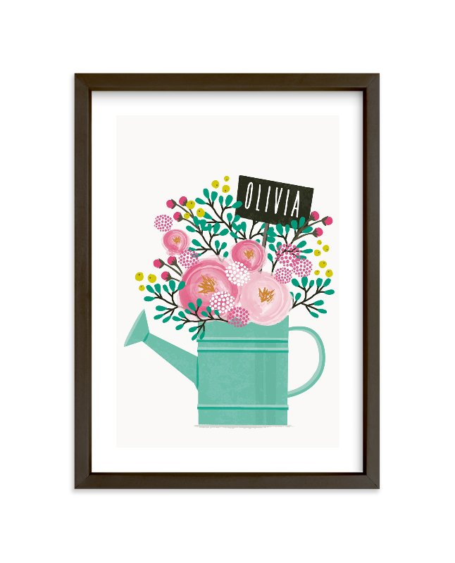"""Little Gardener"" - Children's Custom Art Print by Karidy Walker in beautiful frame options and a variety of sizes."