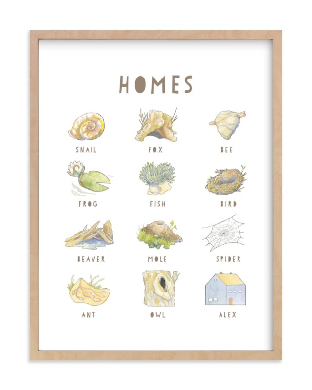 """""""Homes"""" - Children's Custom Art Print by Natalie Groves in beautiful frame options and a variety of sizes."""