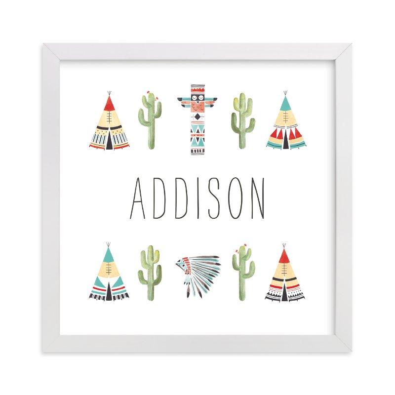 """Little Desert Dreamer"" - Children's Custom Art Print by Ava Thomson in beautiful frame options and a variety of sizes."