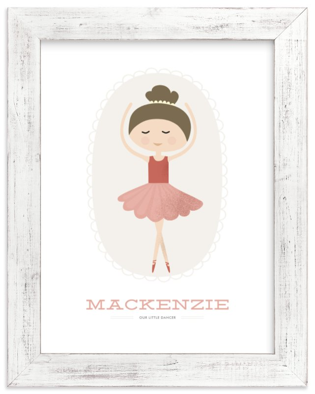"""""""The Ballerina"""" - Children's Custom Art Print by Oma N. Ramkhelawan in beautiful frame options and a variety of sizes."""
