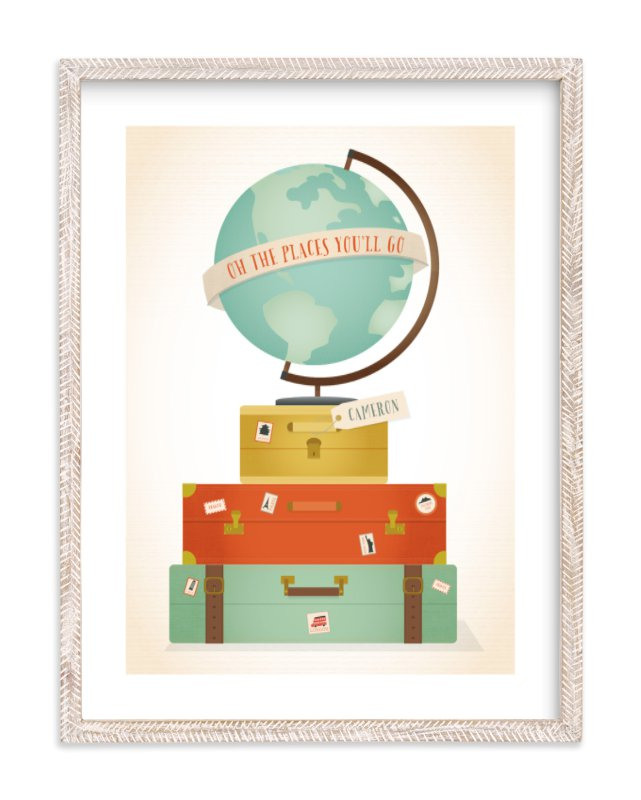 """""""Oh the Places"""" - Children's Custom Art Print by Grace Kreinbrink in beautiful frame options and a variety of sizes."""