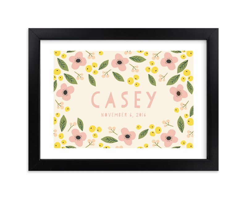 """""""Pink Lemonade"""" - Children's Custom Art Print by August and Oak in beautiful frame options and a variety of sizes."""