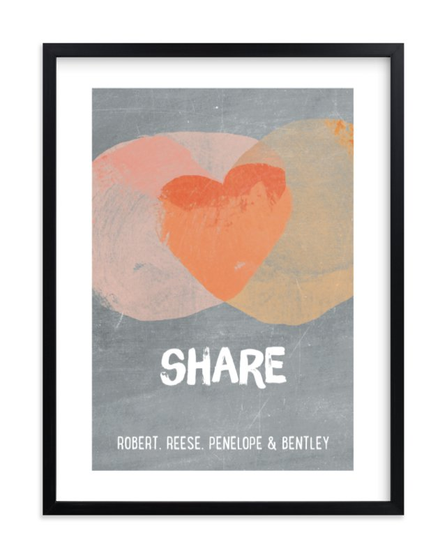 """Kindness Venn"" - Children's Custom Art Print by shoshin studio in beautiful frame options and a variety of sizes."