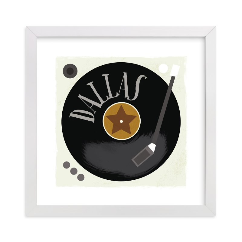 """Vinyl"" - Children's Custom Art Print by JeAnna Casper in beautiful frame options and a variety of sizes."