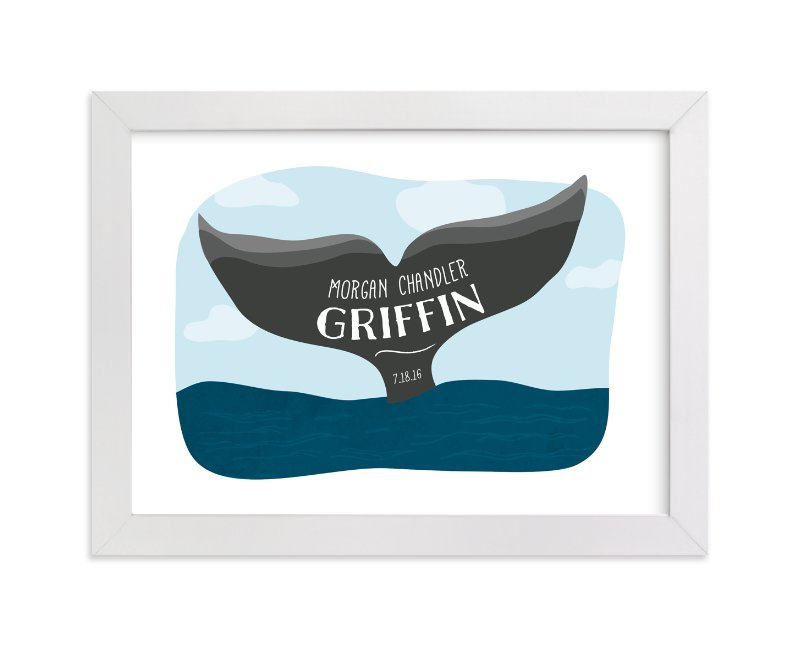 """Whale Tail"" - Children's Custom Art Print by Red Impressionz in beautiful frame options and a variety of sizes."