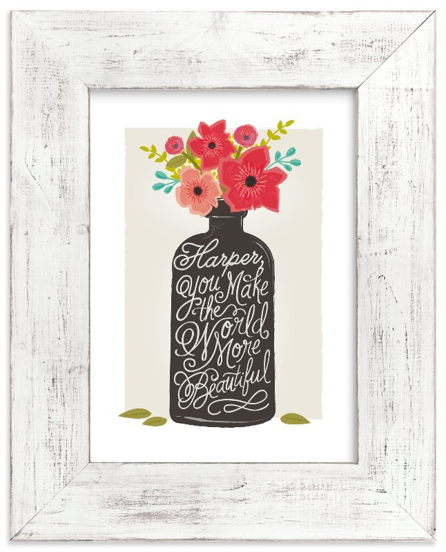 """""""beautiful message"""" - Children's Custom Art Print by Karidy Walker in beautiful frame options and a variety of sizes."""