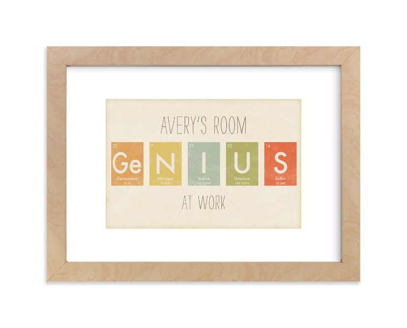 """""""Elemental Series Genius"""" - Children's Custom Art Print by Jennifer Morehead in beautiful frame options and a variety of sizes."""