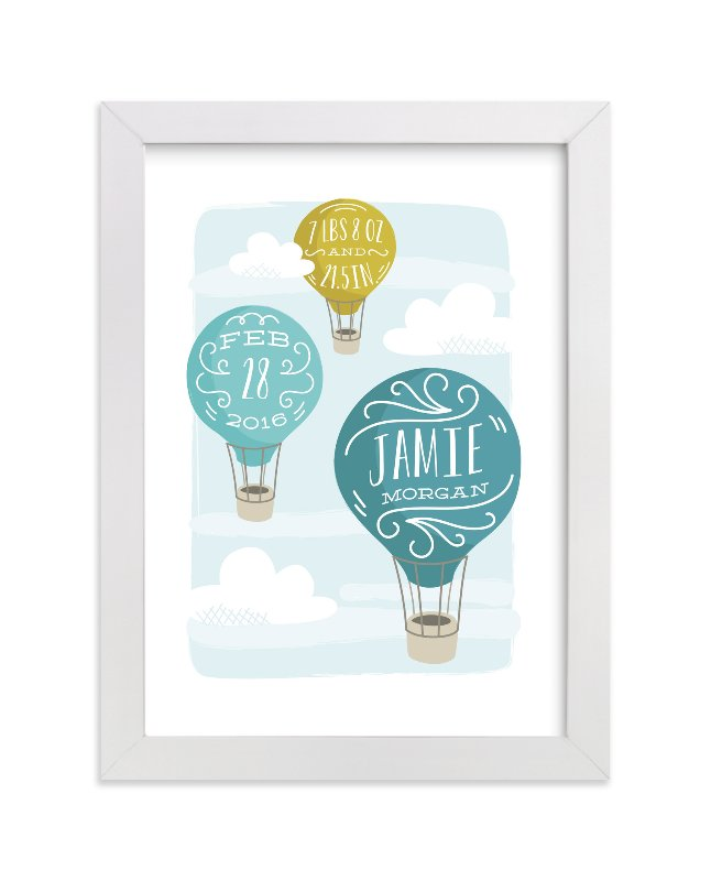 """Up and Away"" - Children's Custom Art Print by Laura Hankins in beautiful frame options and a variety of sizes."