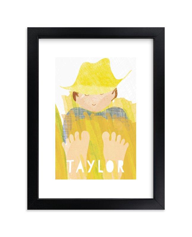 """Barnyard Naps"" - Children's Custom Art Print by shoshin studio in beautiful frame options and a variety of sizes."