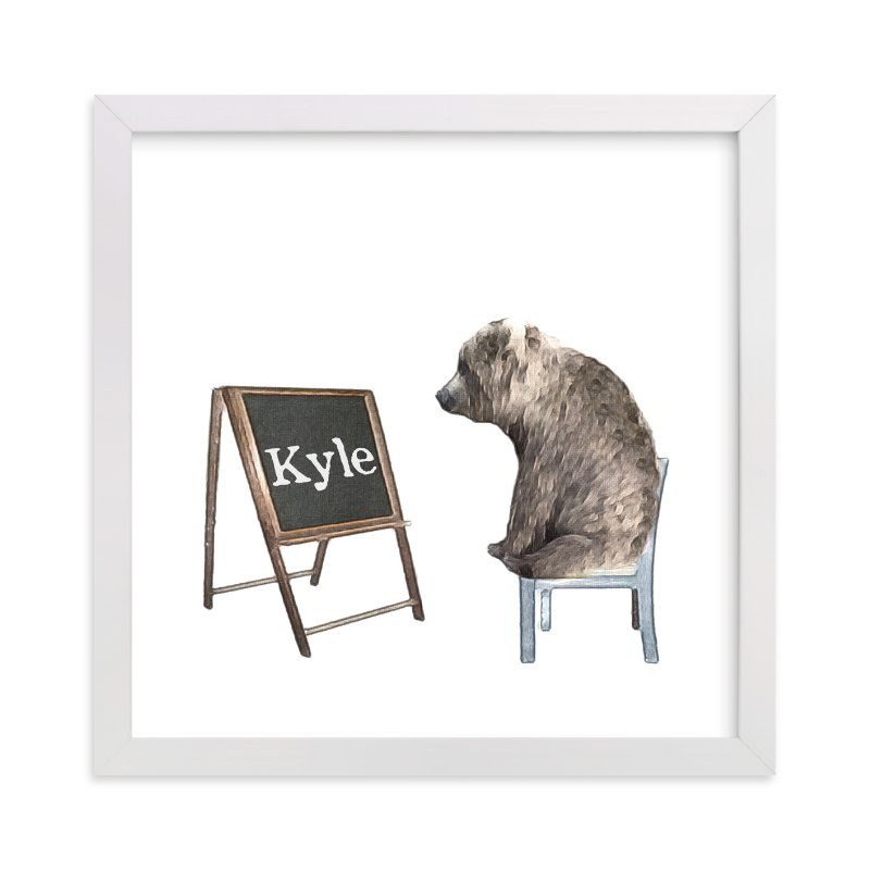"""""""Message on a Blackboard"""" - Children's Custom Art Print by Maja Cunningham in beautiful frame options and a variety of sizes."""