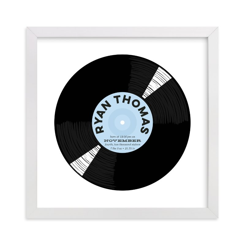 """For the Record"" - Children's Custom Art Print by Baumbirdy in beautiful frame options and a variety of sizes."