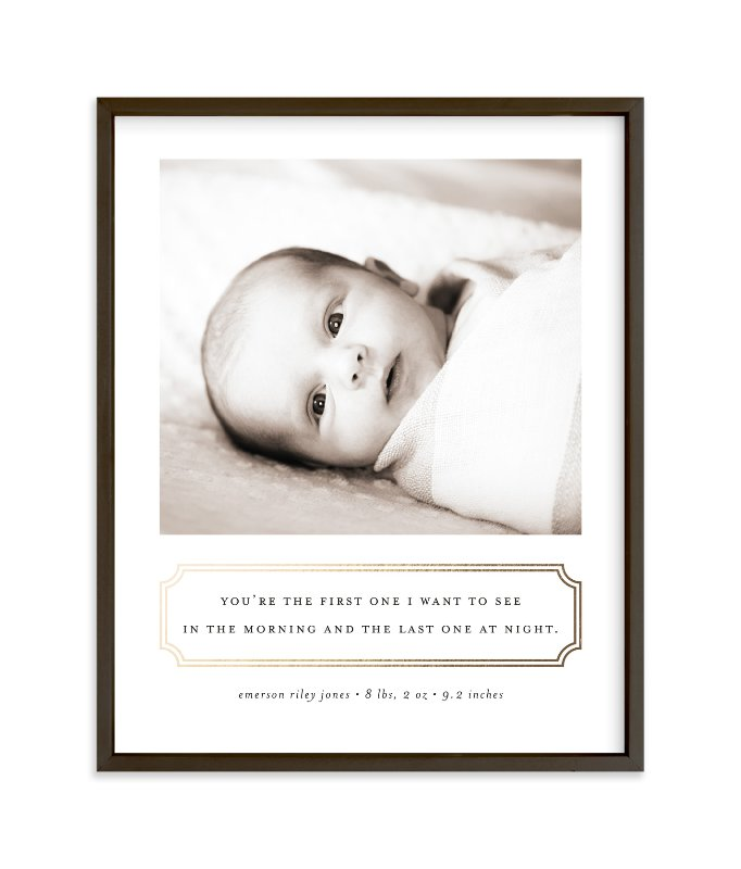 """""""First Love"""" - Foil Pressed Children's Custom Photo Art Print by Sara Hicks Malone in beautiful frame options and a variety of sizes."""
