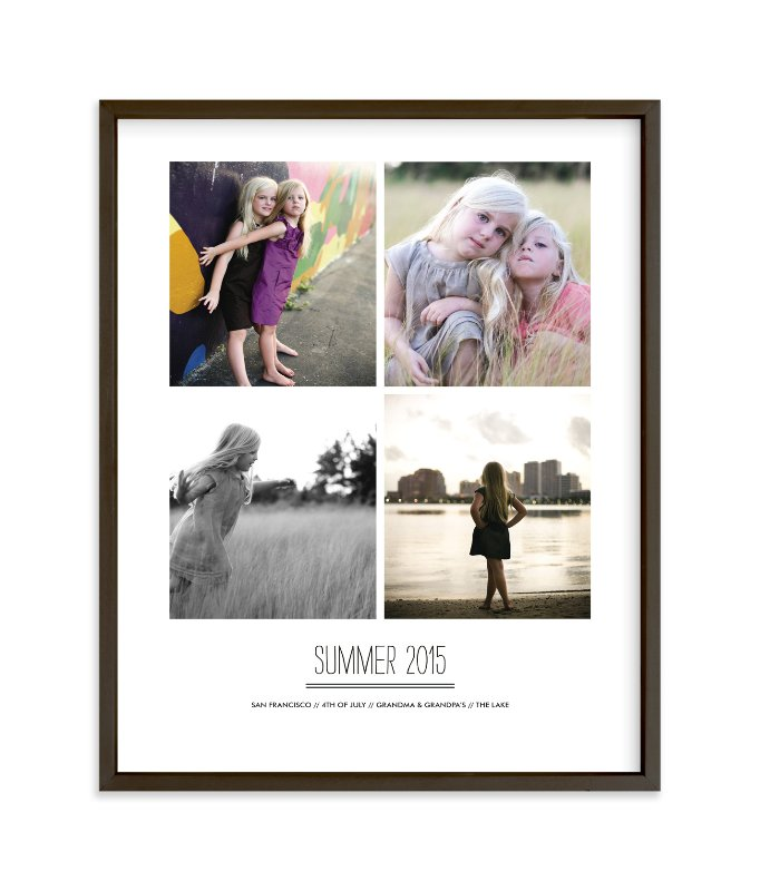 """""""Summer Memories"""" - Children's Custom Photo Art Print by Sara Hicks Malone in beautiful frame options and a variety of sizes."""