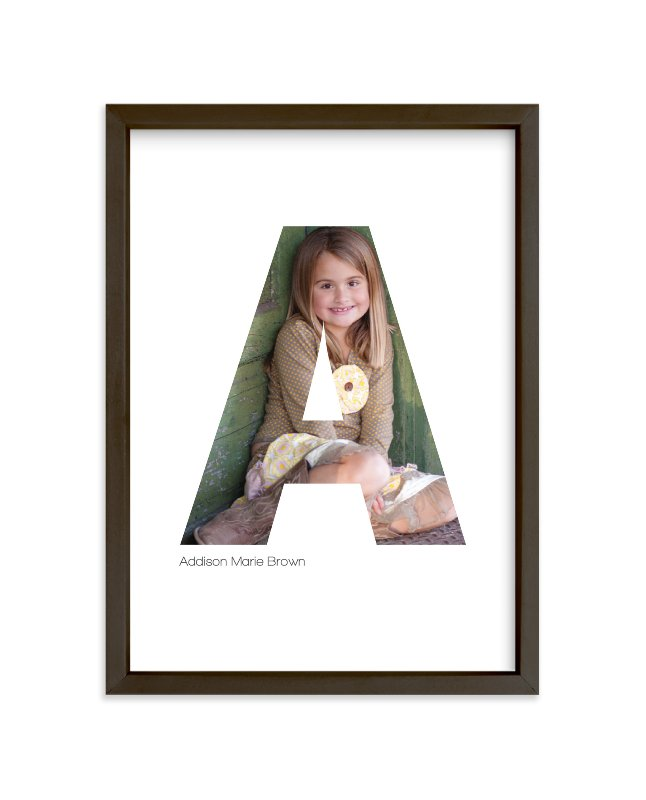 """""""A - Within Letters of You"""" - Children's Custom Photo Art Print by Heather Francisco in beautiful frame options and a variety of sizes."""