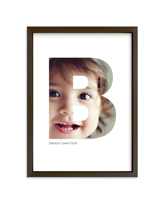 """B - Within Letters of You"" - Children's Custom Photo Art Print by Heather Francisco in beautiful frame options and a variety of sizes."