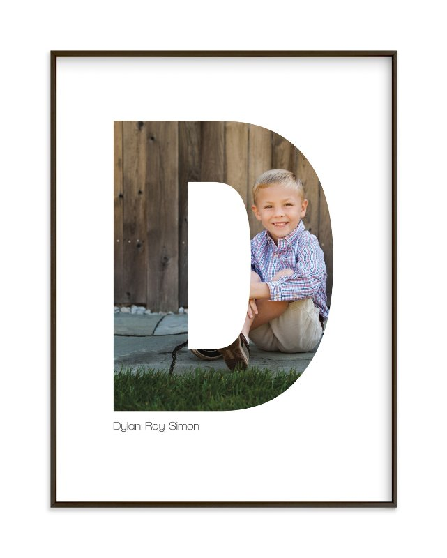 """""""D - Within Letters of You"""" - Children's Custom Photo Art Print by Heather Francisco in beautiful frame options and a variety of sizes."""
