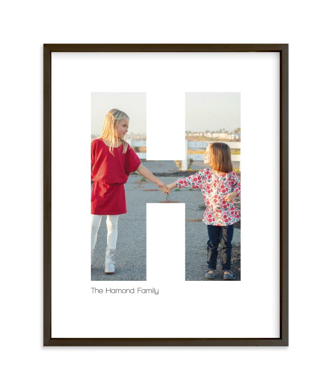 """H - Within Letters of You"" - Children's Custom Photo Art Print by Heather Francisco in beautiful frame options and a variety of sizes."