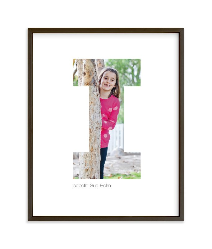 """""""I - Within Letters of You"""" - Children's Custom Photo Art Print by Heather Francisco in beautiful frame options and a variety of sizes."""