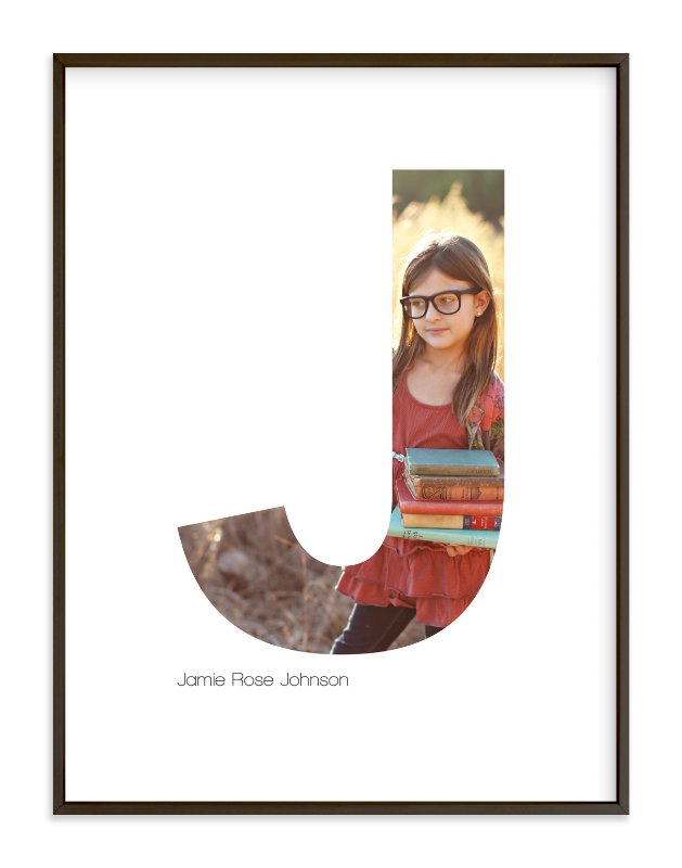 """""""J - Within Letters of You"""" - Children's Custom Photo Art Print by Heather Francisco in beautiful frame options and a variety of sizes."""