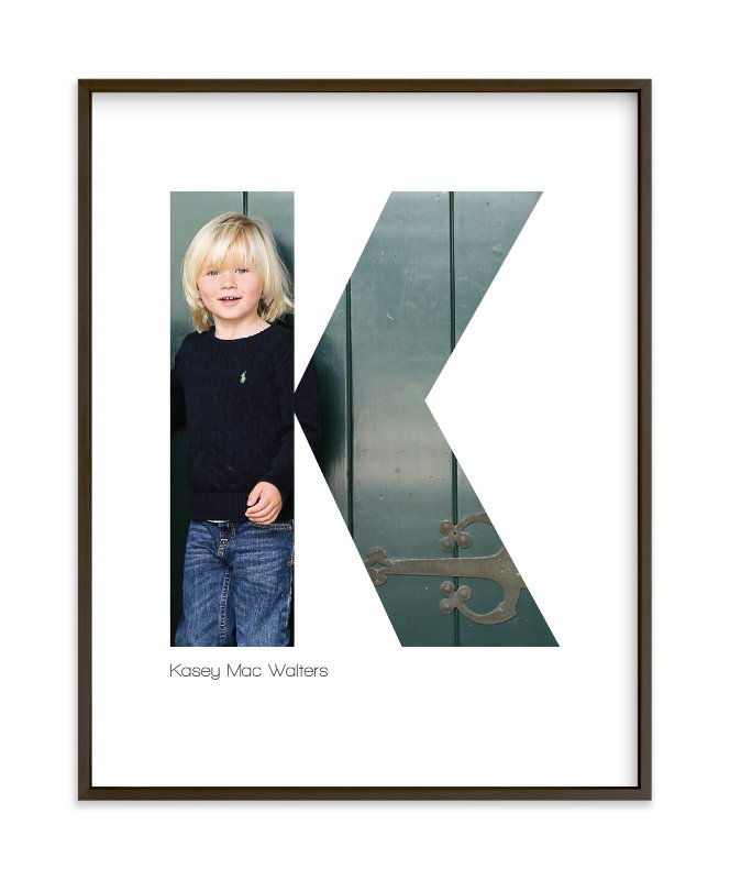"""""""K - Within Letters of You"""" - Children's Custom Photo Art Print by Heather Francisco in beautiful frame options and a variety of sizes."""