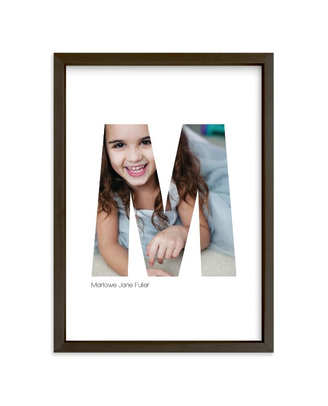 """M - Within Letters of You"" - Children's Custom Photo Art Print by Heather Francisco in beautiful frame options and a variety of sizes."