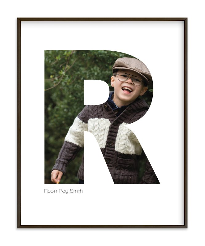 """R - Within Letters of You"" - Children's Custom Photo Art Print by Heather Francisco in beautiful frame options and a variety of sizes."