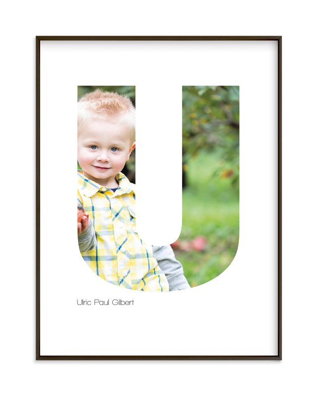 """U - Within Letters of You"" - Children's Custom Photo Art Print by Heather Francisco in beautiful frame options and a variety of sizes."