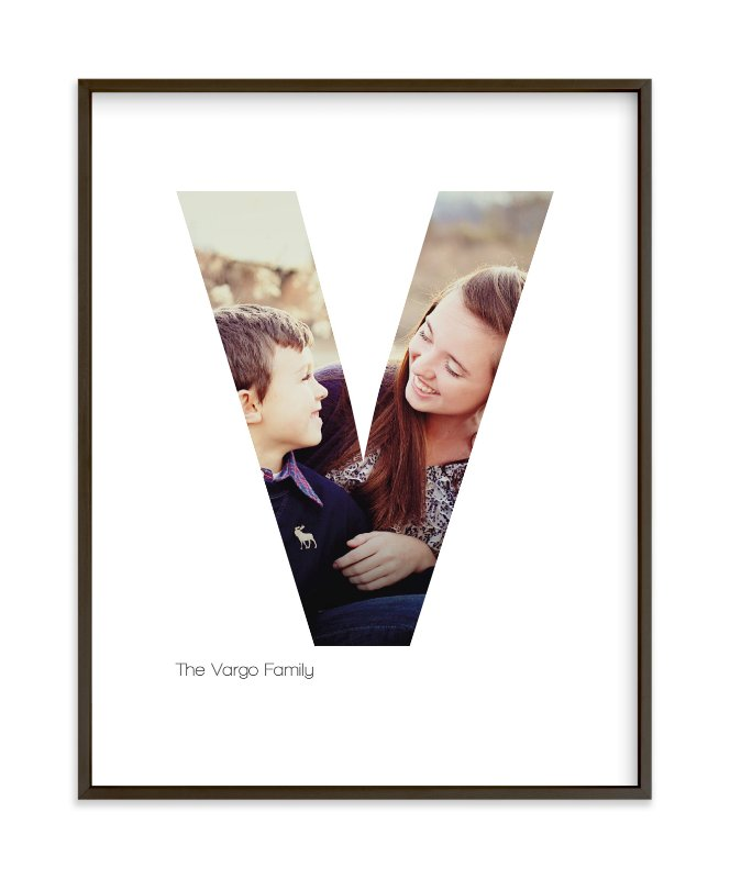 """""""V - Within Letters of You"""" - Children's Custom Photo Art Print by Heather Francisco in beautiful frame options and a variety of sizes."""