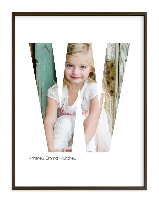 """""""W - Within Letters of You"""" - Children's Custom Photo Art Print by Heather Francisco in beautiful frame options and a variety of sizes."""
