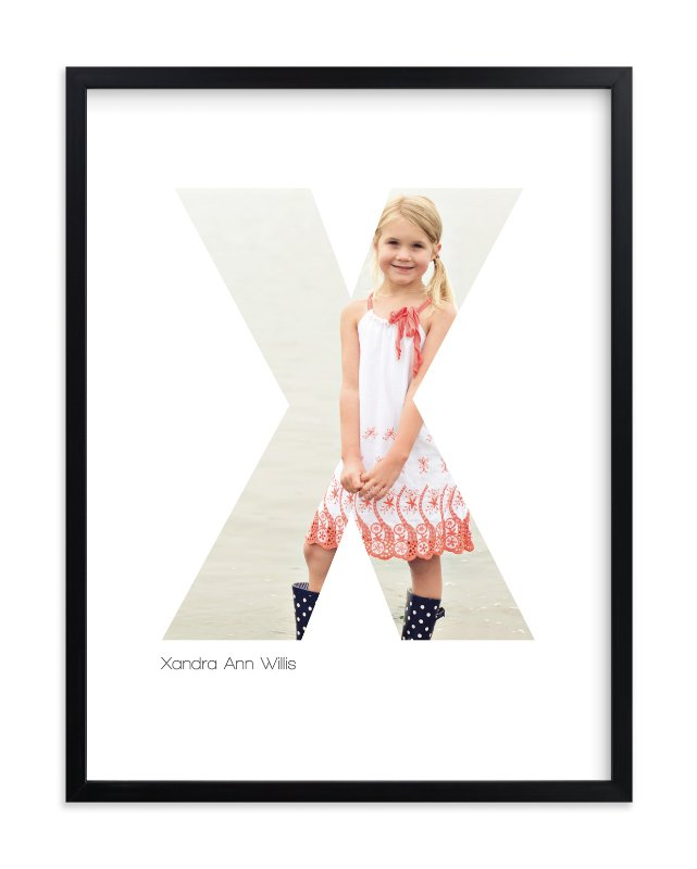 """""""X - Within Letters of You"""" - Children's Custom Photo Art Print by Heather Francisco in beautiful frame options and a variety of sizes."""