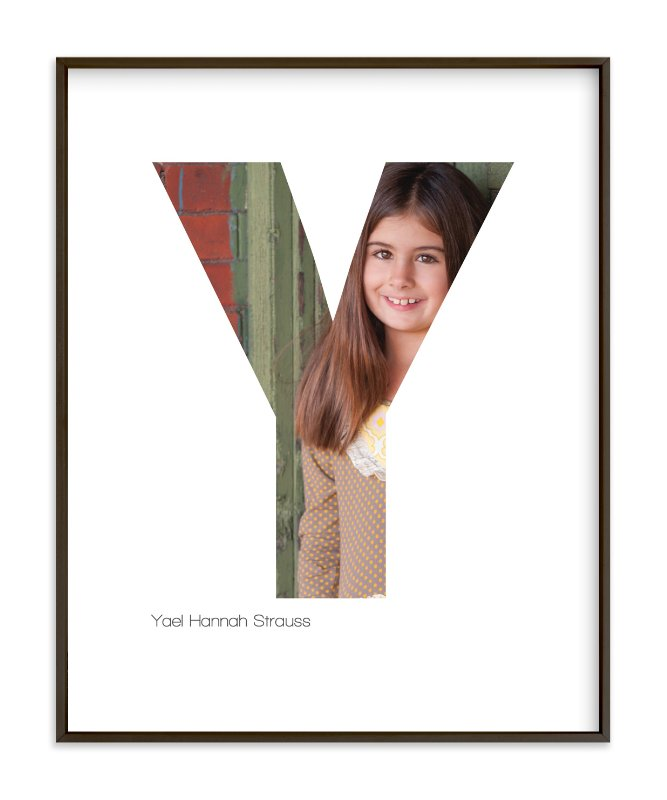 """Y - Within Letters of You"" - Children's Custom Photo Art Print by Heather Francisco in beautiful frame options and a variety of sizes."