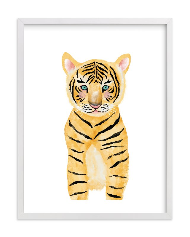 """""""baby animal.tiger"""" - Limited Edition Art Print by Cass Loh in beautiful frame options and a variety of sizes."""