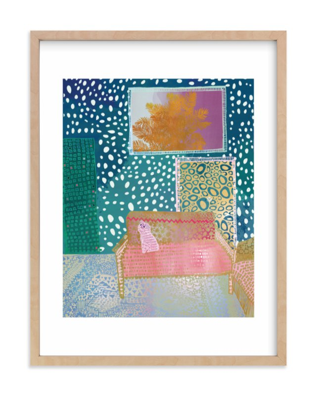"""""""Doggy at Home"""" - Limited Edition Art Print by Emma Repp in beautiful frame options and a variety of sizes."""